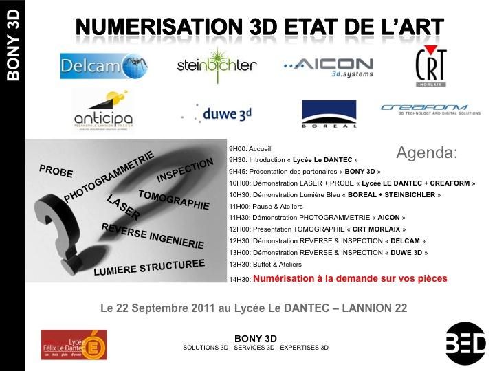Journée Numérisation 3D : Etat de l'art