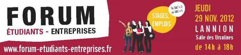 Forum Etudiants-Entreprises Lannion : le Forum régional des TIC!