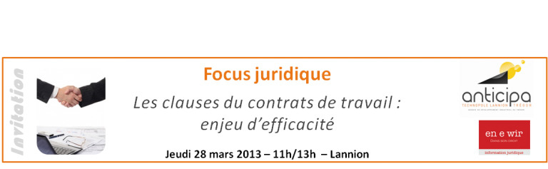 Focus -  Les clauses du contrat de travail : enjeu d'efficacité