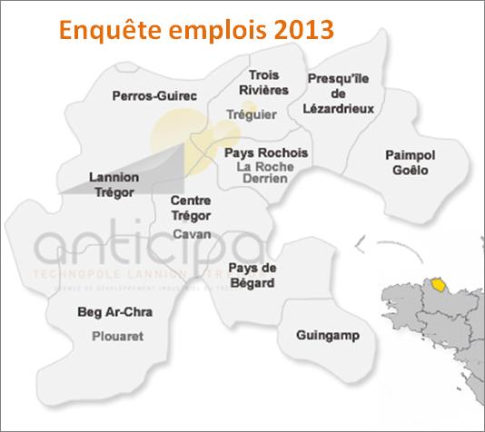 Enquête emplois 2013 : maintien de l'emploi dans le Trégor