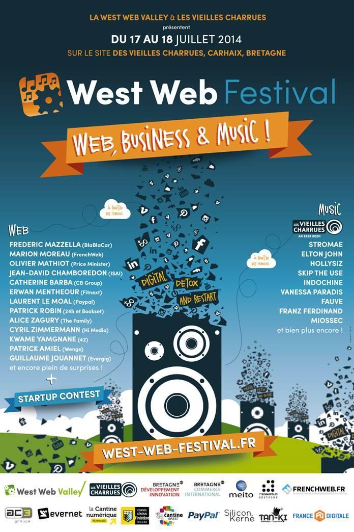 Anticipa partenaire du West Web Festival lors des Vieilles Charrues à Carhaix