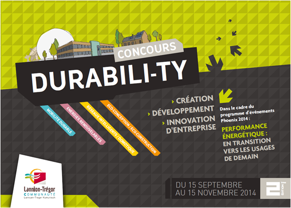 Concours DURABILI-TY : Création, développement, Innovation d'entreprise au service de la transition énergétique