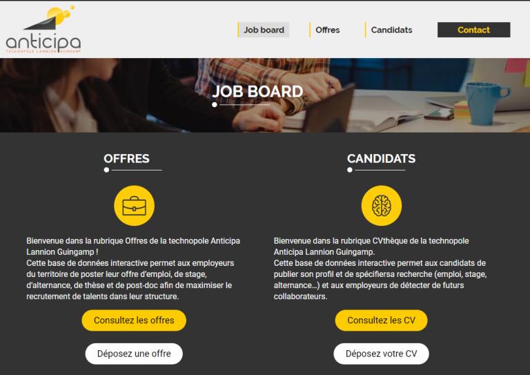 Job board Anticipa : une base de données interactive pour recruter vos futurs talents !