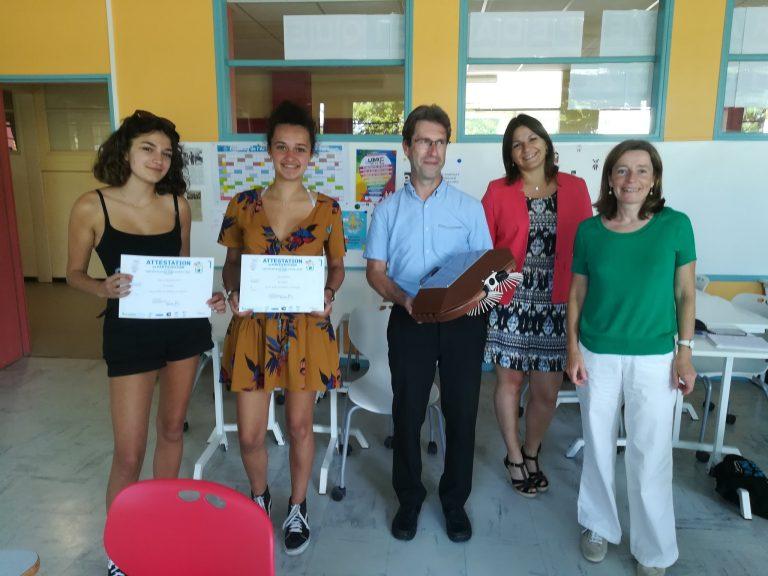 Le projet Ecorobot au concours « Une entreprise dans votre lycée »