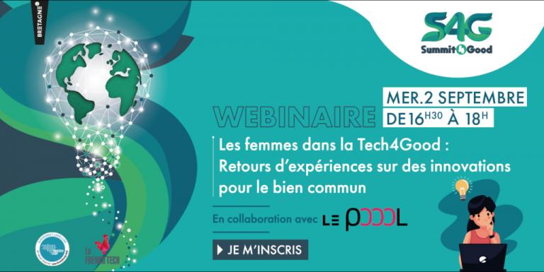Webinaire Summit4Good : les femmes dans la tech4good : retours d'expériences