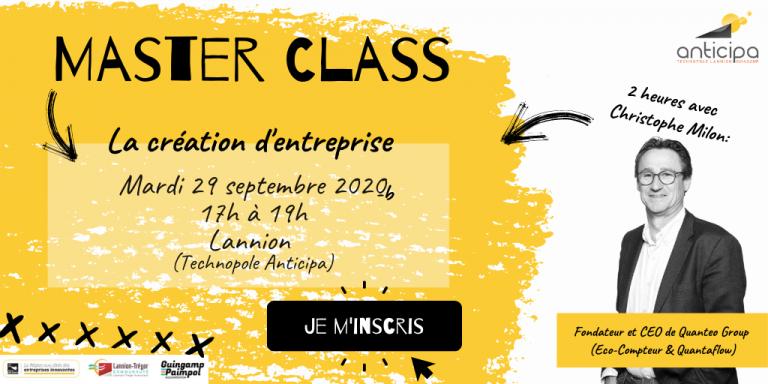 Master Class création d'entreprise par Christophe Milon