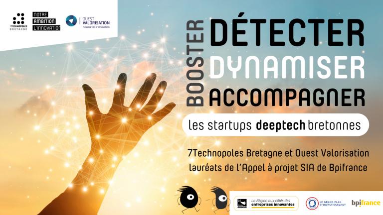 L'association des 7 Technopoles de Bretagne (7TB) et la SATT Ouest Valorisation veulent donner des ailes aux startups Deeptech en Bretagne.
